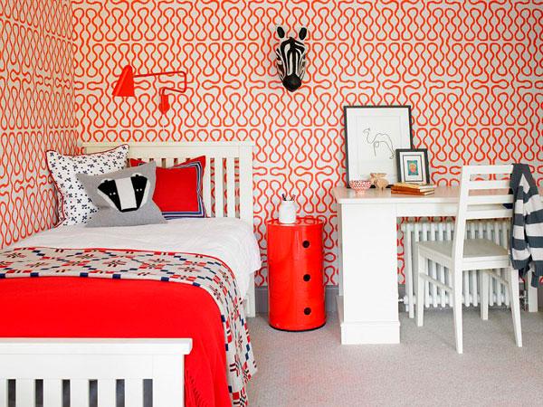 Senefas color rojo en cuartos infantiles