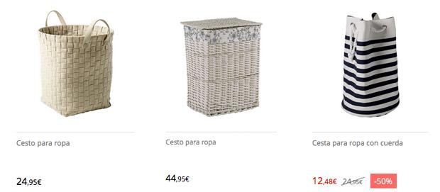 Comprar cestas de la ropa sucia en El Corte Inglés