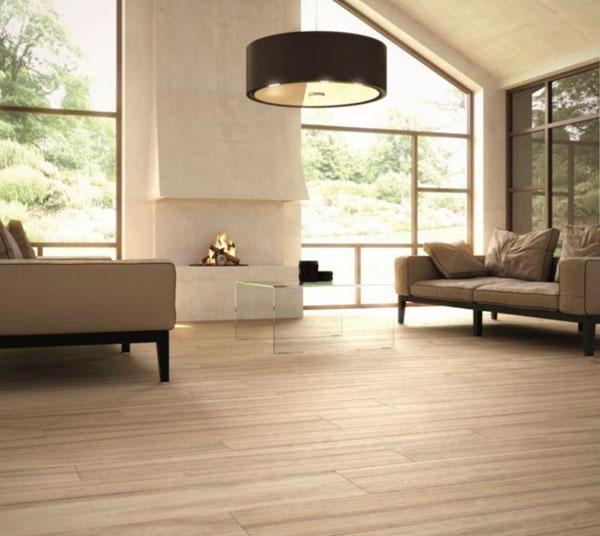 Baldosas efecto madera en suelos de cerámica