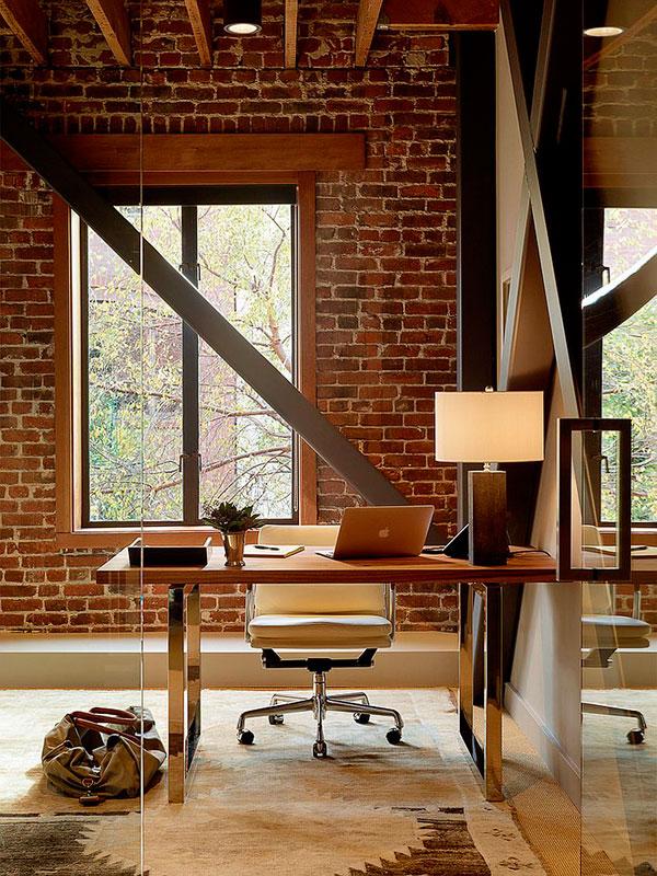 Oficinas con pared de ladrillo visto ideas y fotos for Paredes ladrillo visto