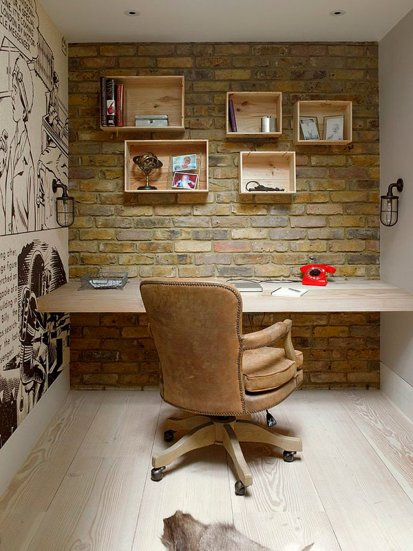 Oficinas con pared de ladrillo visto ideas y fotos - Decoracion con ladrillos ...