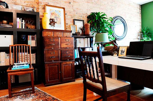 Hacemos una oficina vintage con paredes de ladrillo artificial