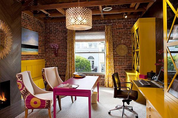 Oficinas de pared de ladrillo visto: Fotos e Ideas de decoración
