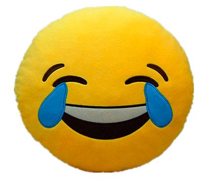 cojin emoticono whatsapp peluche cara feliz risa