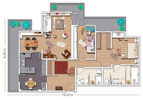 Plano para decorar piso nuevo