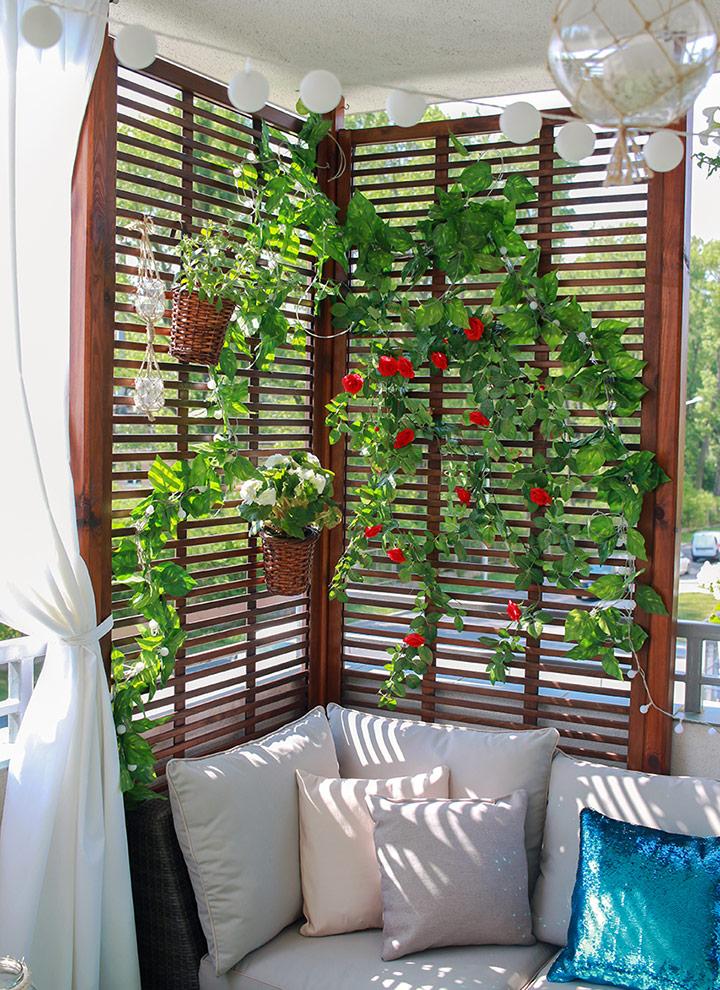 Plantas enredaderas para tapar vecinos balcón