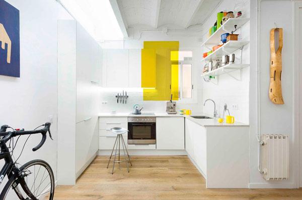 Decoración de un pequeño piso en Barcelona
