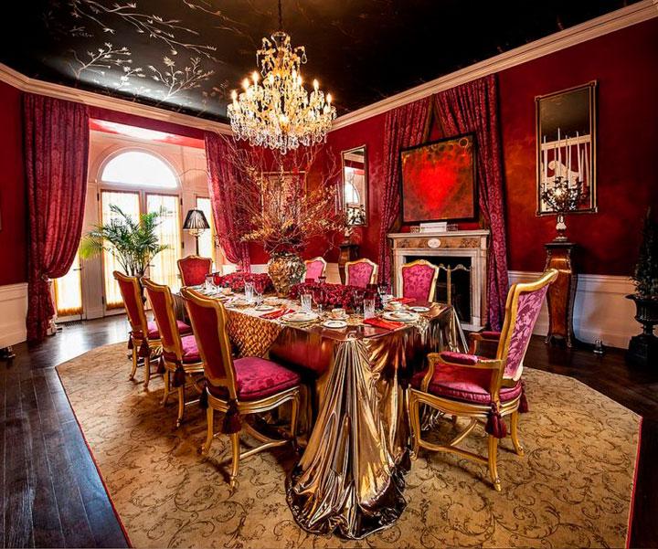 Comedor Victoriano elegante decoración sofisticada