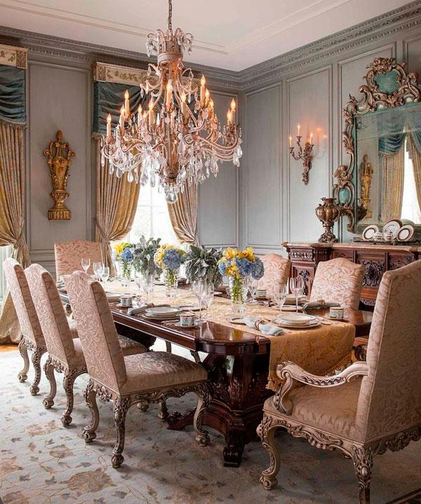 Comedores victorianos majestuosos que irradian opulencia - Comedores grandes ...