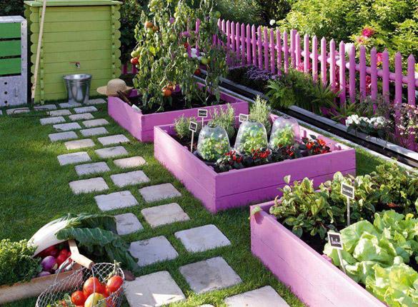 DIY decorar terraza con cultivo de huerto urbano