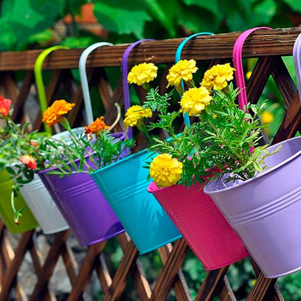 DIY Terraza jardineras de colores