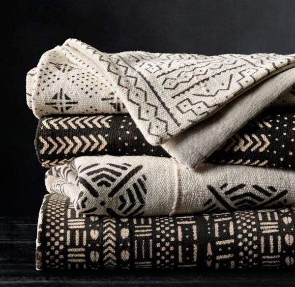 Tendencias en téxtiles de algodón con patrones de lodo