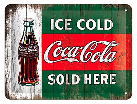 Cartel antiguo Coca Cola años 60