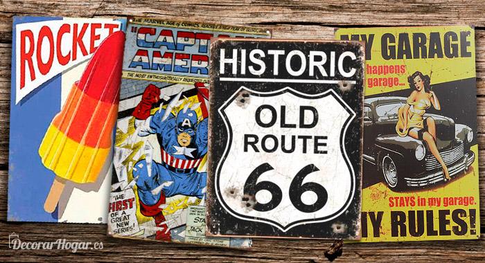 carteles chapa vintage metalicos