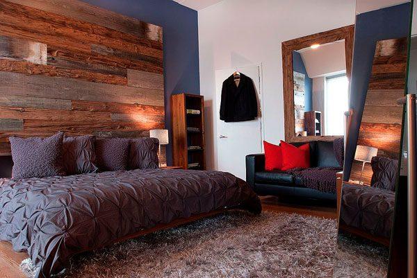 Decoración moderna con paredes de madera