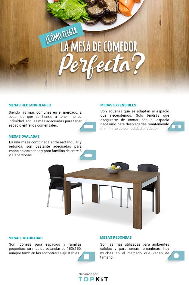 Trucos para elegir la forma de la mesa del comedor