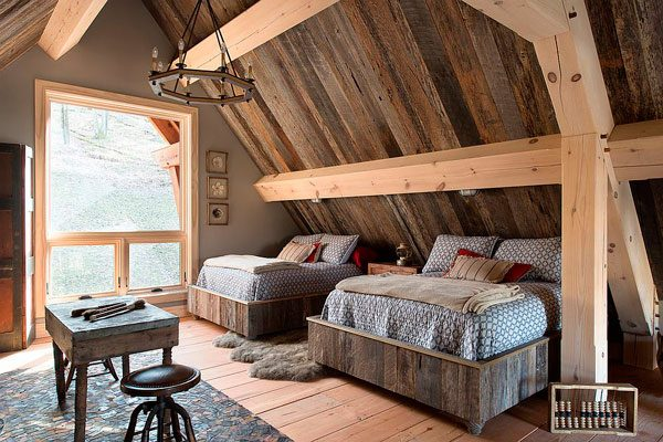 20 dormitorios con pared de madera reciclada me encantan for Paredes en madera