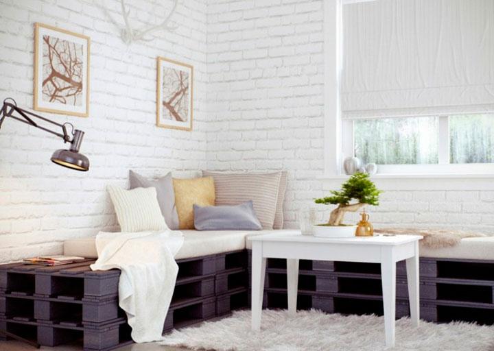Cómo decorar con palets de madera vintage