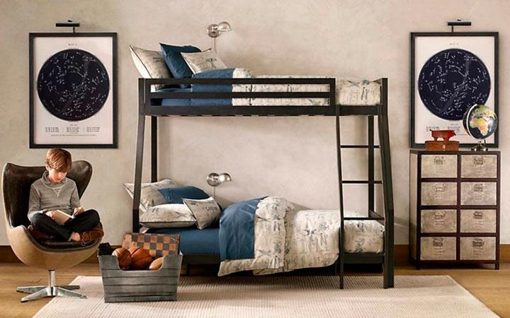 Foto dormitorio para chico muy elegante