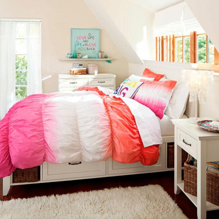Fotos de decoración de habitaciones para adolescentes en colores pastel