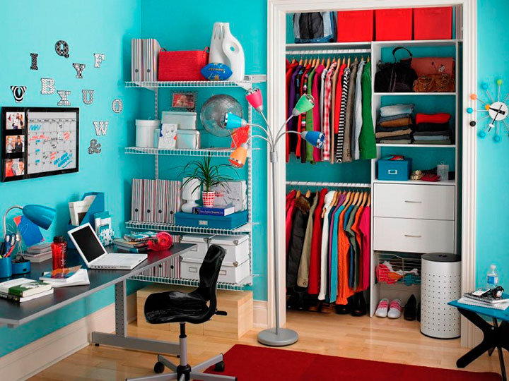 Ideas de habitaciones de niñas adolescentes en azul turquesa pastel