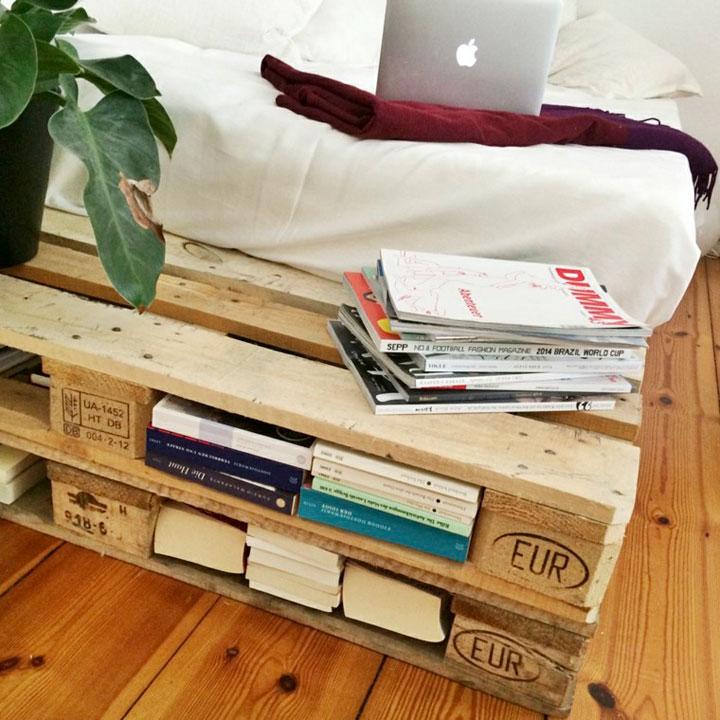 Estante librería hecho con palieres