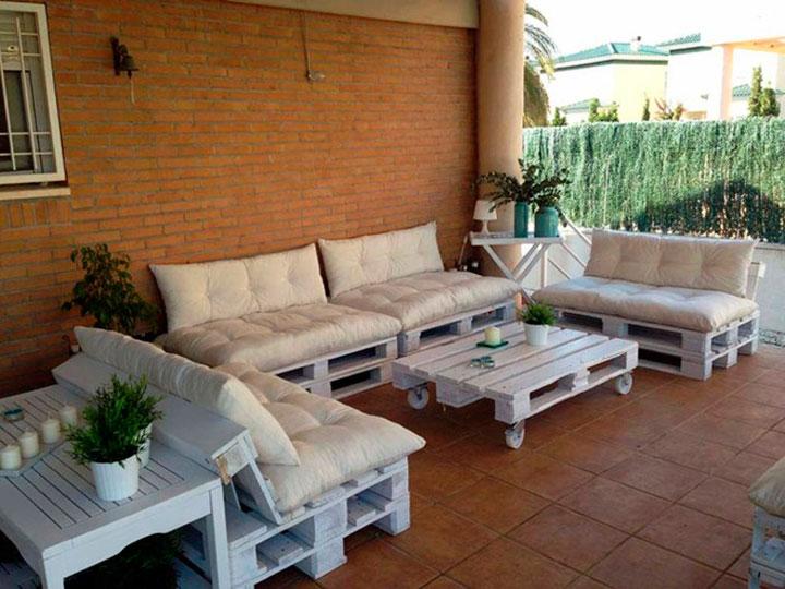 Muebles con palets de madera tendencias 2018 decorar hogar - Palets muebles reciclados ...