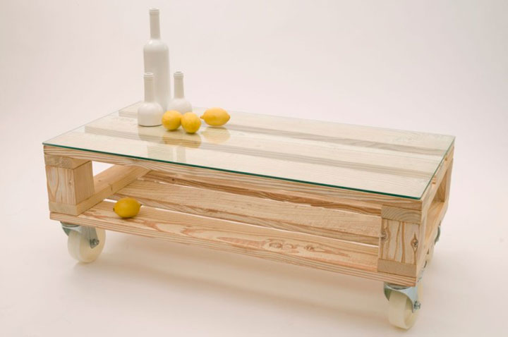 Muebles de palets de madera mesa de café