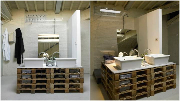 muebles de baño hechos con palets de madera