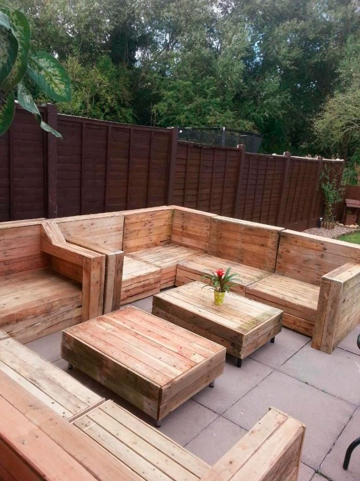 Muebles con palets de madera tendencias 2019 decorar hogar - Sillones de cocina ...