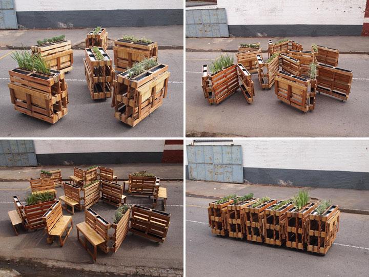 muebles para terrazas de bar con palets - Muebles Palets