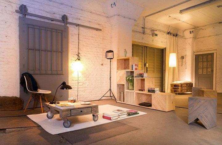 Decorar oficina con palets de madera