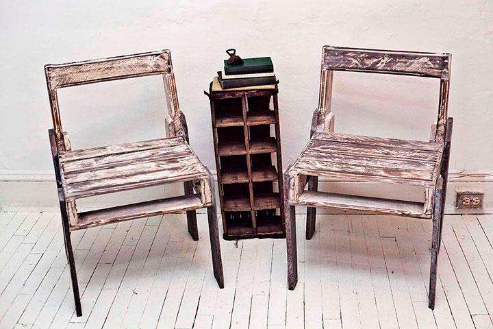 Muebles con palets de madera tendencias 2018 decorar hogar - Sillas con palets ...