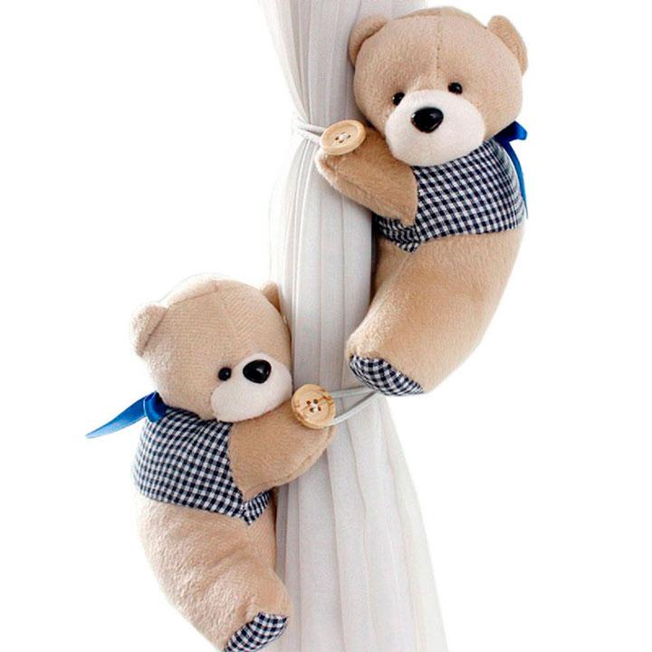 Abrazaderas de osito para cortinas infantiles de niña
