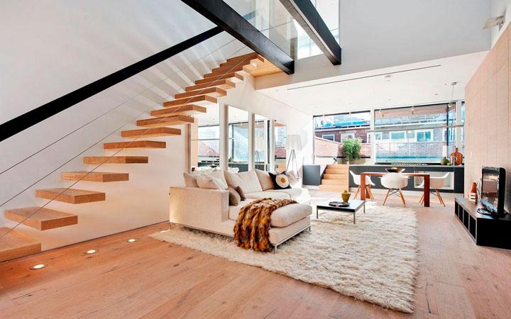 Ideas para decorar un Dúplex moderno con Terraza