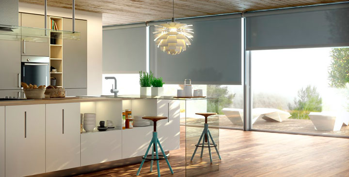 Cortinas de cocina ideas y fotos para este 2018 decorar hogar - Cortinas o estores para salon ...