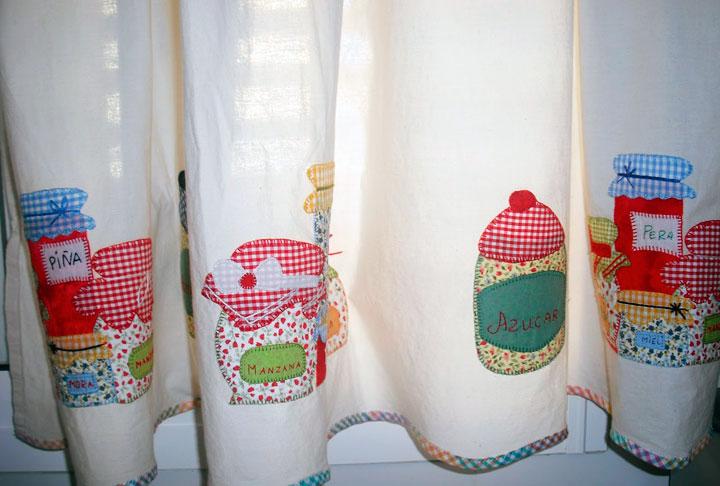 Cortina de Cocina con dibujos de alimentos