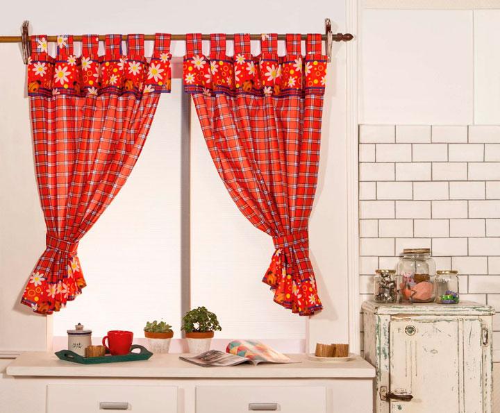 Cortinas de cocina ideas y fotos para este 2018 decorar - Telas rusticas para cortinas ...