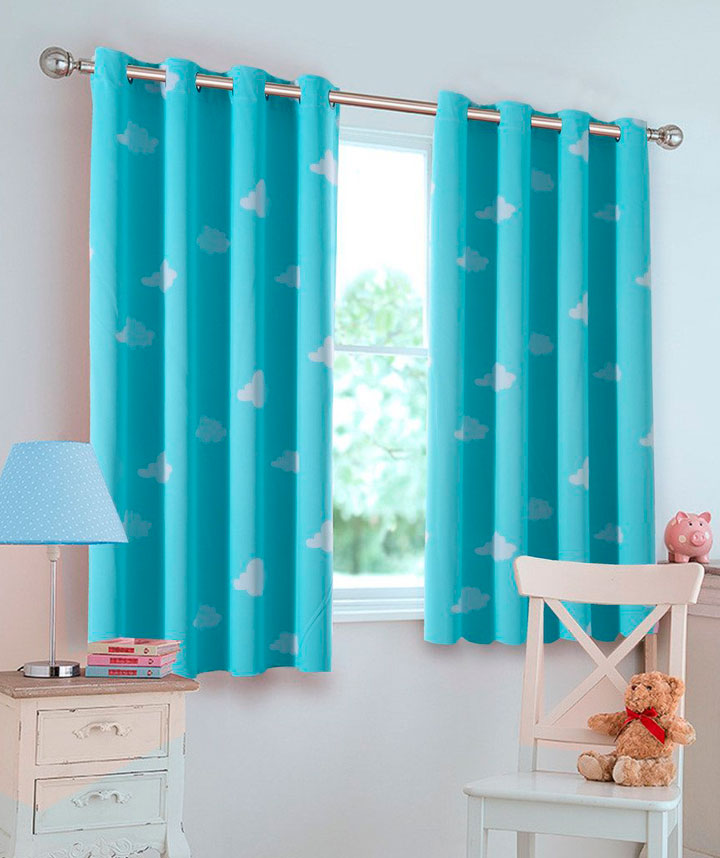Cortinas infantiles para su dormitorio en 2017 ideas y fotos for Cortinas cortas para salon