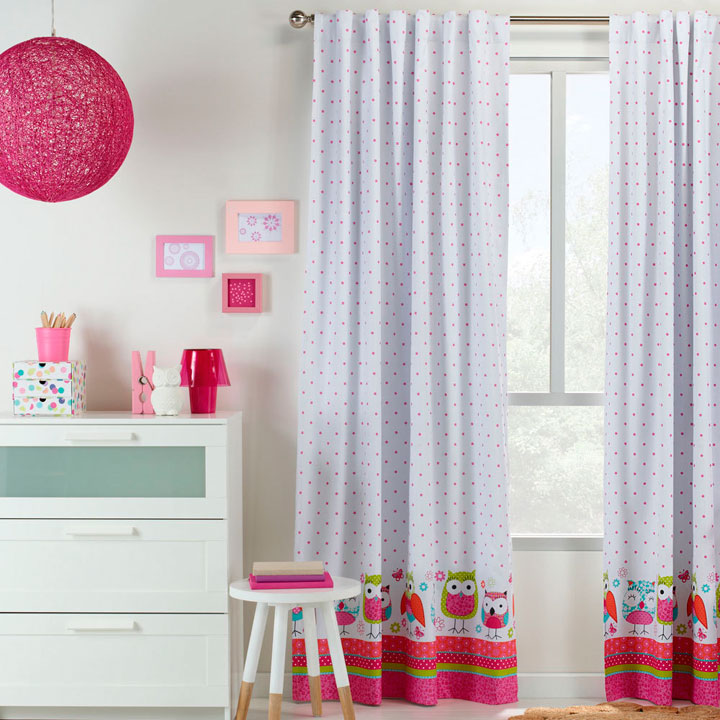 Cortinas infantiles para su dormitorio en 2017 ideas y fotos for Cortinas infantiles nina