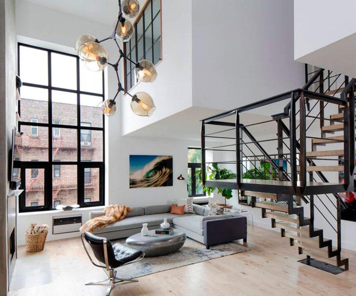 Ideas para decorar un d plex moderno con terraza decorar - Escaleras para duplex ...