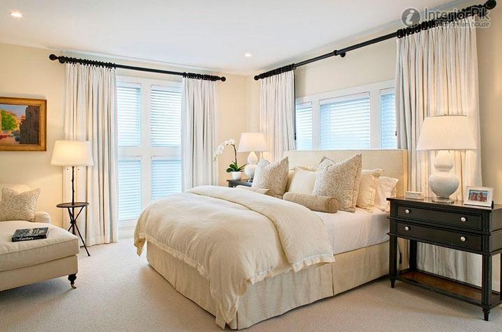 Cómo combinar los colores de las cortinas del dormitorio