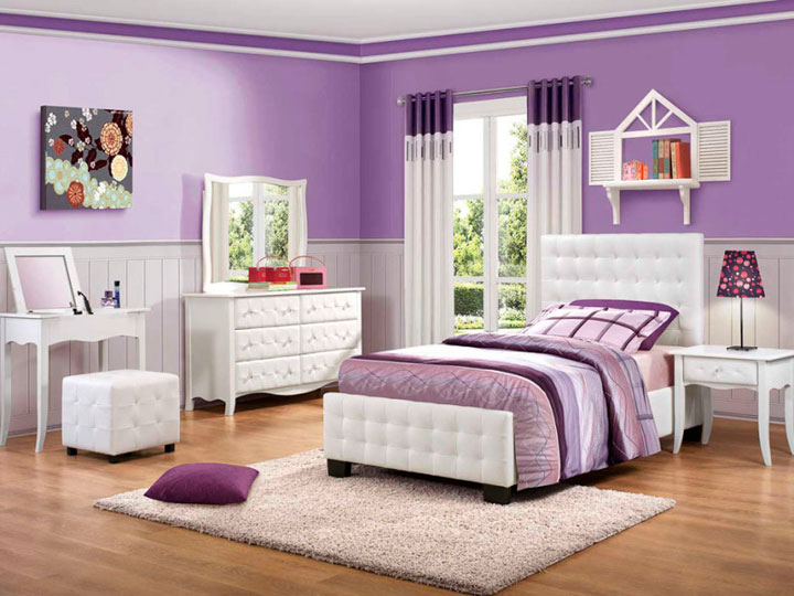 Cortinas para dormitorio juvenil de chica