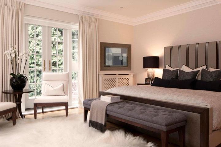 cortinas para el dormitorio principal
