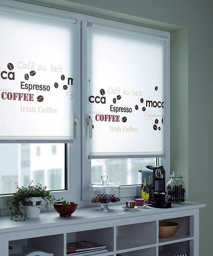 Entro enrollable cortina de cocina moderna
