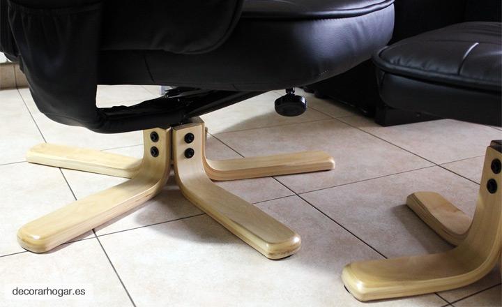 Patas de madera natural sillón relax modelo málaga
