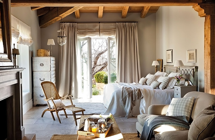 Cortinas para dormitorios rústicos modernos