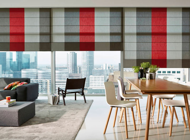 Estores verticales para salón moderno