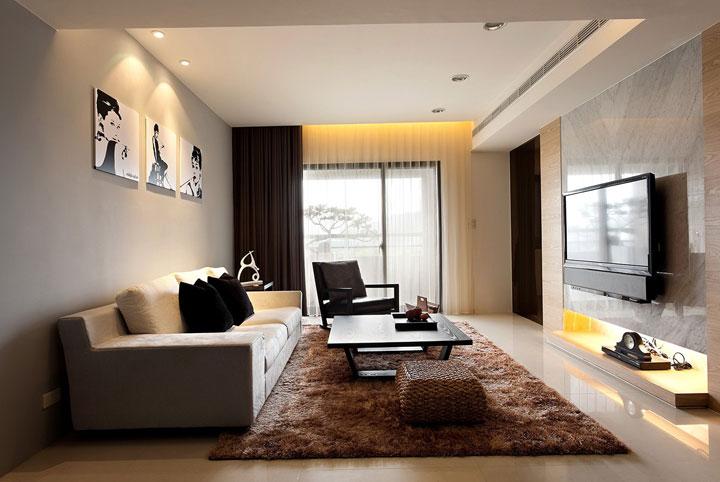 Cortinas modernas en decoración de interiores