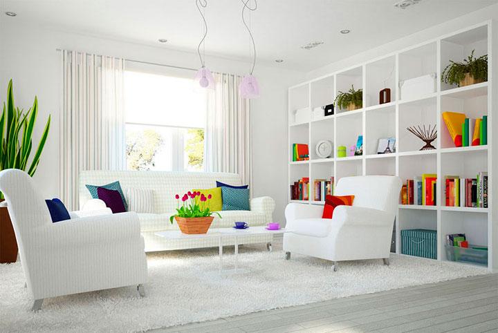 cortinas modernas minimalistas en blanco